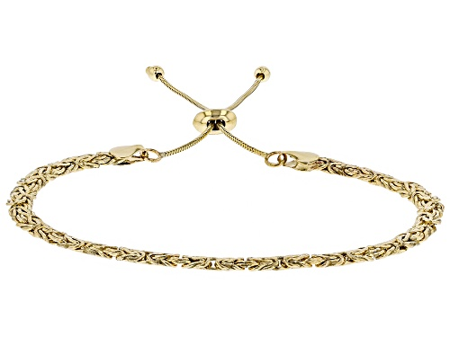 Photo of 10k Yellow Gold Byzantine Sliding Adjustable Bracelet