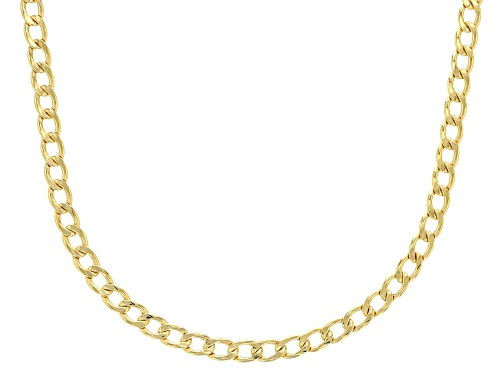 Photo of 10k Yellow Gold 3.2mm Curb 18 inch Chain Necklace - Size 18
