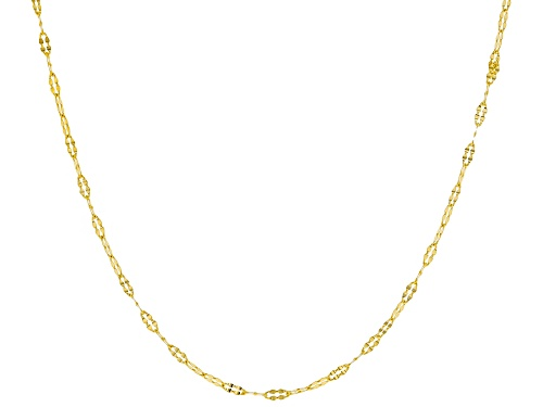 Photo of 10k Yellow Gold 1.43mm Flat Cable 18 inch Chain Necklace