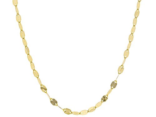 Photo of 10k Yellow Gold Grand Mirror 20 inch Chain Necklace - Size 20