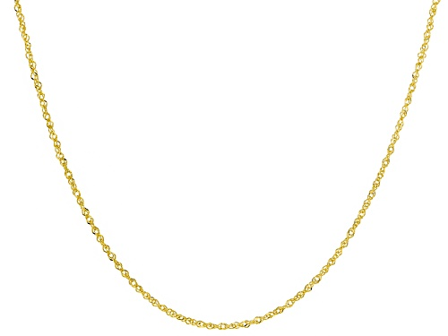 Photo of 10k Yellow Gold 0.65mm Designer 18 inch Chain Necklace - Size 18