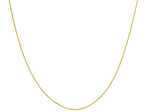 Photo of 14k Yellow Gold 0.43mm Designer Rolo 18 inch Chain Necklace - Size 18