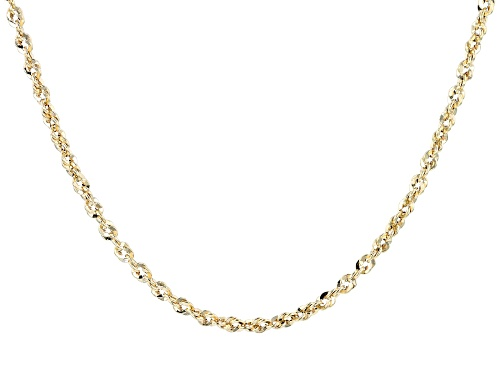 Photo of 10k Yellow Gold Diamond Cut Rope Chain Necklace