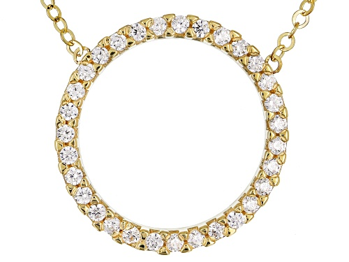 Photo of Bella Luce® 0.31ctw Diamond Simulant Round 10k Yellow Gold Circle 18 inch Necklace - Size 18