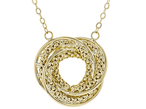 Photo of 10k Yellow Gold 1.7MM Popcorn Love Knot 17 inch Necklace