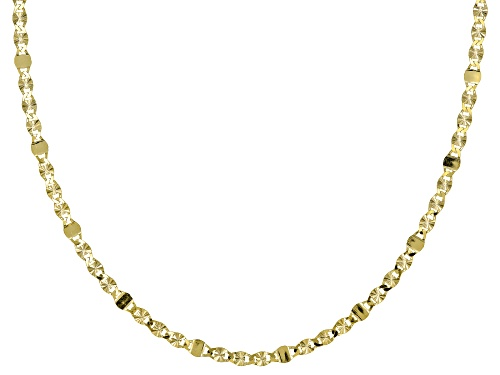 Photo of 10K Yellow Gold Star Valentino Chain Necklace 18 Inch - Size 18