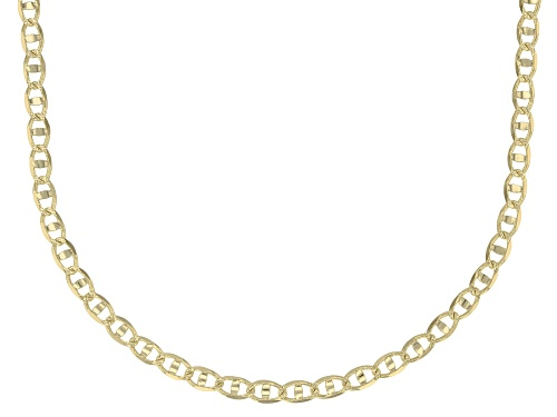 Photo of 10K Yellow Gold 2.4MM Mariner Link Pave Chain Necklace 18 Inch - Size 18