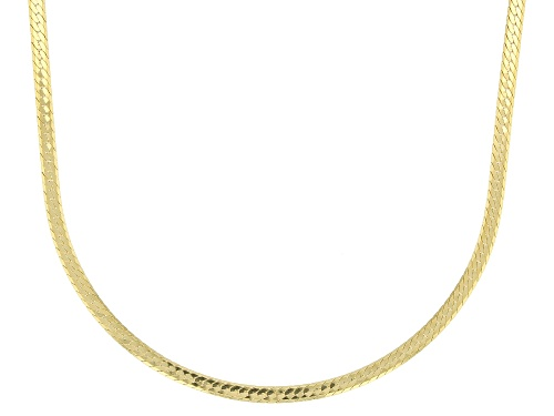 Photo of 10K Yellow Gold 1MM Herringbone Necklace 18 Inch - Size 18