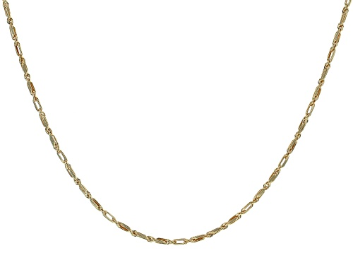 Photo of 10K YELLOW GOLD 2.3MM HOLLOW MILANO ROPE CHAIN NECKLACE - Size 20