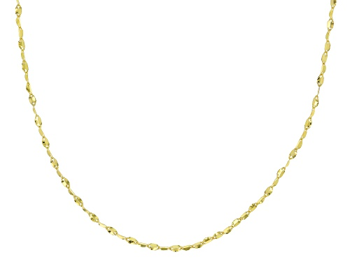 Photo of 10K Yellow Gold .3MM Twisted Valentino Chain Necklace 18 Inch - Size 18