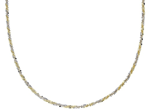 Photo of 10K Yellow Gold & Rhodium Over Gold Two-Tone Criss Cross Chain Necklace 18 Inch - Size 18