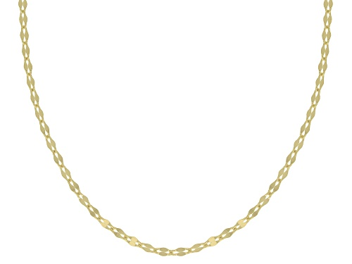 Photo of 10K Yellow Gold 1MM Mirror Link Chain Necklace 18 Inch - Size 18
