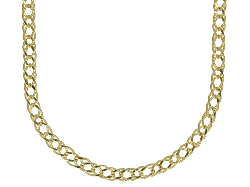 Photo of 10K Yellow Gold 1.5MM Diamond Cut Marquise Chain Necklace 18 Inch - Size 18