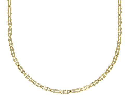 Photo of 10K Yellow Gold 1MM Clover Chain Necklace 18 Inch - Size 18