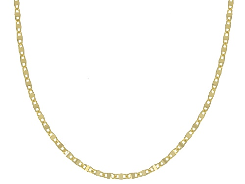 Photo of 10K Yellow Gold .3MM Mariner Link Pave Chain Necklace 18 Inch - Size 18
