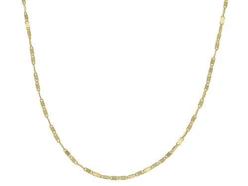 Photo of 10K Yellow Gold 1.1MM Cable Chain Necklace 18 Inch - Size 18