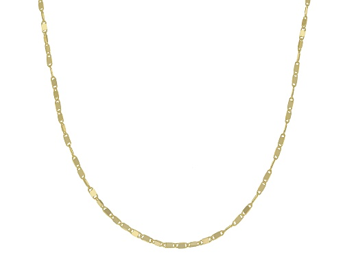 Photo of 10K Yellow Gold 1.1MM Cable Chain Necklace 20 Inch - Size 20