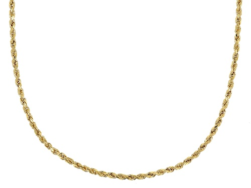 Photo of 10K Yellow Gold Diamond Cut Grande Rope Chain Necklace 18 Inch - Size 18