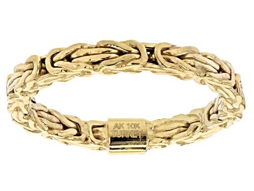 Photo of 10K Yellow Gold Square Byzantine Band Ring - Size 7