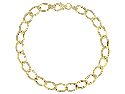 Photo of 10K Yellow Gold 6.3mm Flat Wire Curb Bracelet 7.5 Inch - Size 7.5