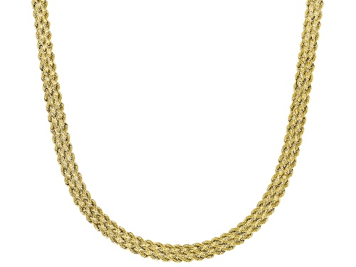 Photo of 10K Yellow Gold 5.5mm Rope Chain Necklace 18 Inch - Size 18