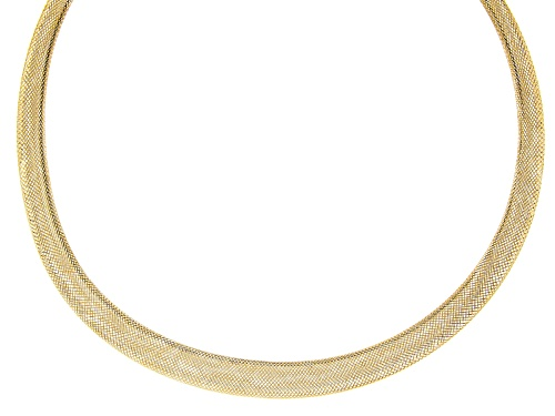 Photo of 10K Yellow Gold Mesh Omega Necklace 18 Inch - Size 18