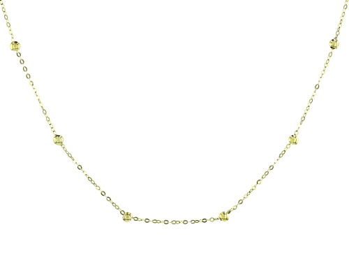 Photo of 10k Yellow Gold Bead Station Adjustable Necklace - Size 18