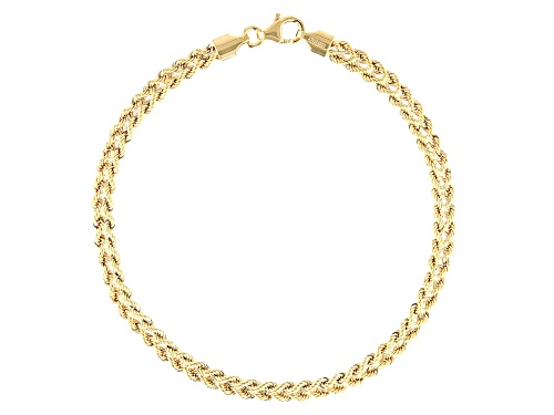 Photo of 10k Yellow Gold Designer Rope 8 inch Bracelet - Size 8