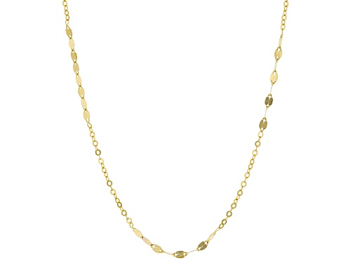 Photo of 10k Yellow Gold Mirror and Diamond Cut Rolo Station 20 inch Necklace.