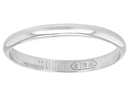 Photo of Rhodium over 10k Yellow Gold 1.8mm Stackable High Polish Band Ring - Size 7