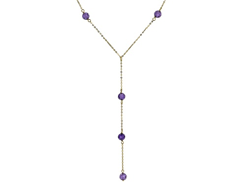 Photo of 10k Yellow Gold Necklace with Bella Luce® 1.25ctw Purple Diamond Simulant 18 inch - Size 18