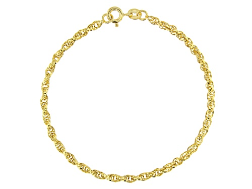 Photo of 10k Yellow Gold Polished Torchon 7.25 inch Bracelet - Size 7.25