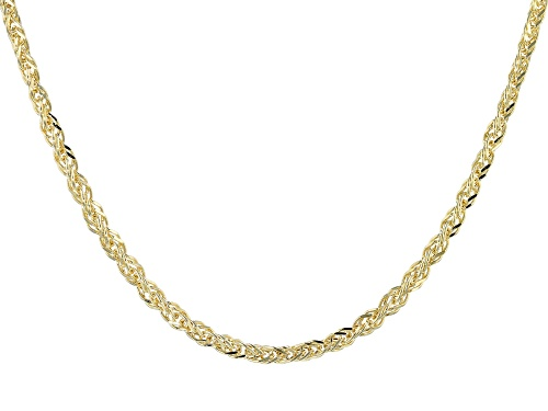 Photo of 10k Yellow Gold Polished Square Spiga 18 inch Necklace - Size 18