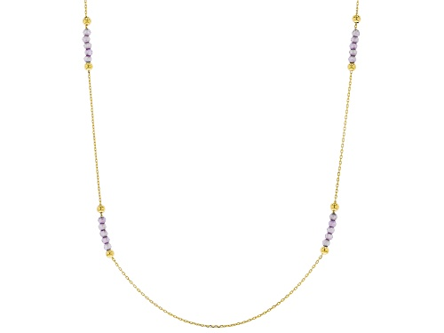 Photo of 10K Yellow Gold Diamond Cut Rolo Chain Necklace With Bella Luce(R) 2.00ctw Purple Diamond Simulant - Size 24