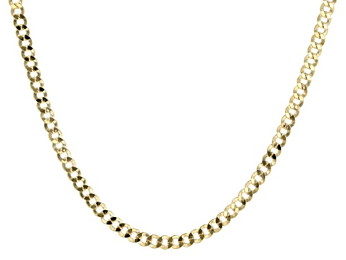 Photo of 10K YELLOW GOLD FLAT CURB NECKLACE 20 Inches - Size 20