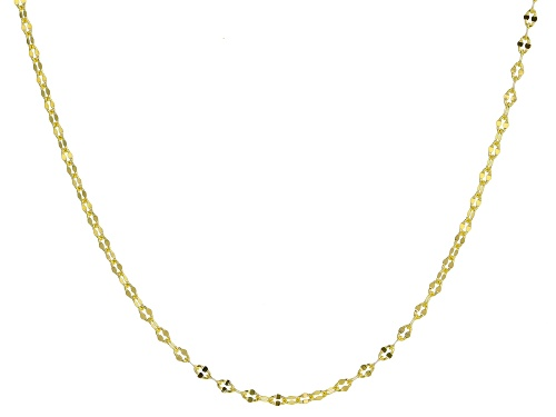 "Photo of 10K Yellow Gold Concave Anchor Mirror Necklace 20"" - Size 20"