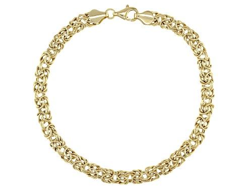 Photo of 10K Yellow Gold Domed High Polished Byzantine Bracelet - Size 7.25