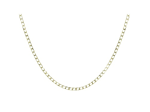 Photo of 10K Yellow Gold Diamond Cut Curb Necklace - Size 20