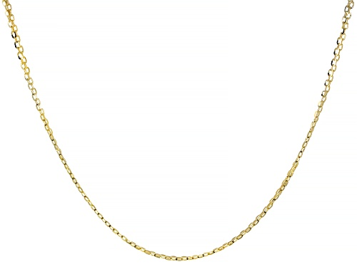 Photo of 10K Yellow Gold 2.10MM Diamond-Cut Bismark Necklace 20 Inches - Size 20
