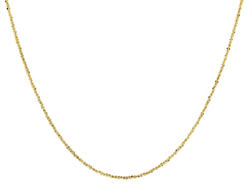 Photo of 10K Yellow Gold 1.10MM Criss-Cross 18 Inch Chain - Size 18