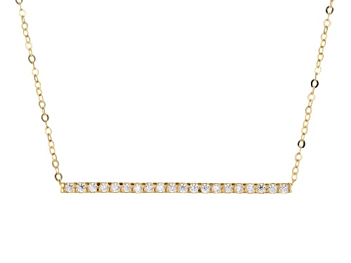 Photo of 10K Yellow Gold Bella Luce® White Cubic Zirconia Bar 18 Inch Necklace - Size 18