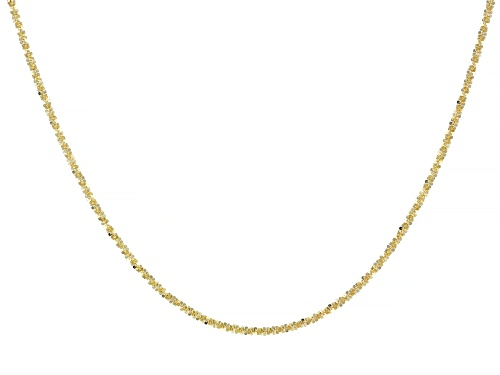 "Photo of 10K Yellow Gold Criss-Cross Chain Necklace 20"" - Size 20"