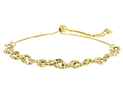 Photo of 10K Yellow Gold 5.50MM High Polished Double Link Rope Chain 10.5 Inch Bolo Bracelet - Size 10.5