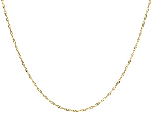 """Photo of 14K Yellow Gold 1.10MM 18"""" Singapore Chain Necklace - Size 18"""