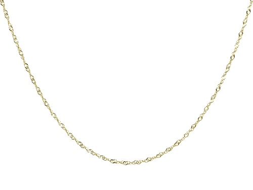 "Photo of 14K Yellow Gold 1.10MM 20"" Singapore Chain Necklace - Size 20"