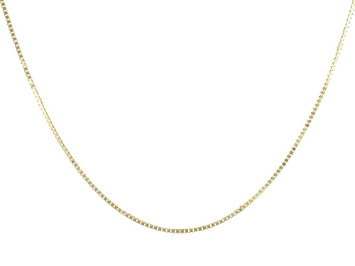 "Photo of 14K Yellow Gold 0.77MM Diamond Cut 20"" Box Chain Necklace - Size 20"