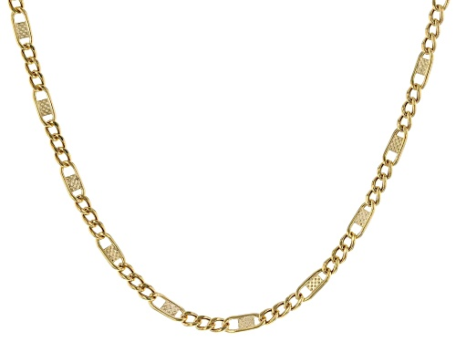 """Photo of 14K Yellow Gold 2.05MM 18"""" Figaro Chain Necklace - Size 18"""