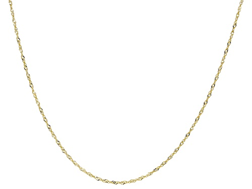 "Photo of 10K Yellow Gold Faceted Square 20"" Rolo Link Chain Necklace - Size 20"
