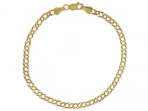 Photo of 10K Yellow Gold 4MM Double Curb Bracelet - Size 7.25
