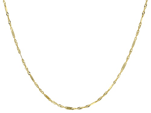 Photo of 10K Yellow Gold 1.4MM Singapore Bar 18 Inch Necklace - Size 18